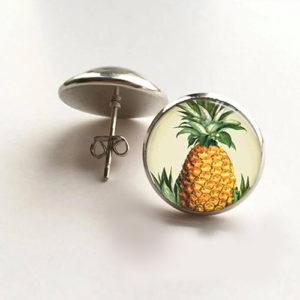 Pineapple Silver Earring 14 mm