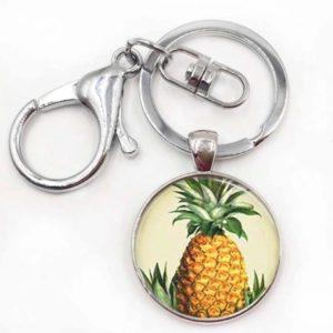 Pineapple Silver Keychhain